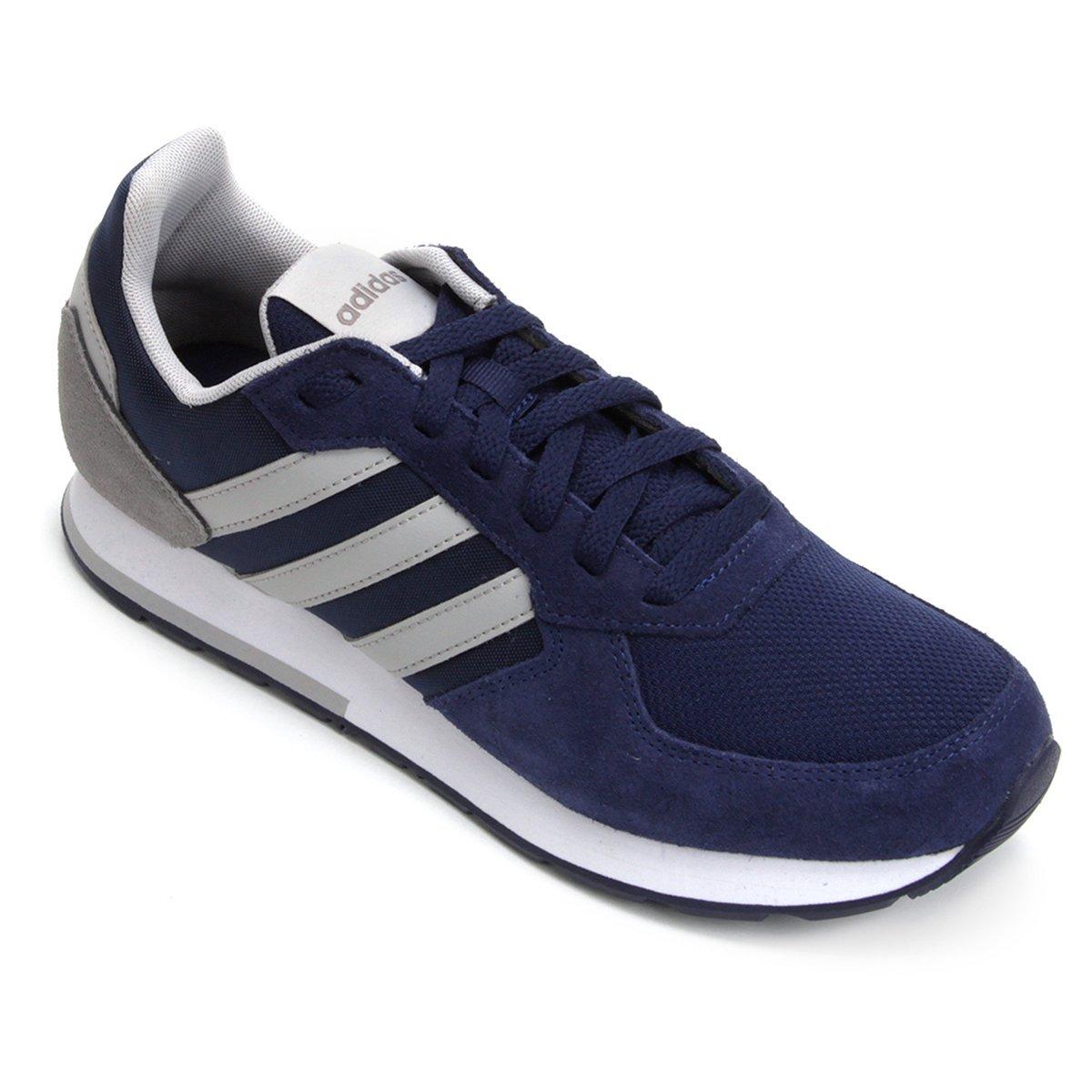 5b0b8a1d4bca7 Tênis Adidas 8K Masculino - Azul e Cinza - Compre Agora