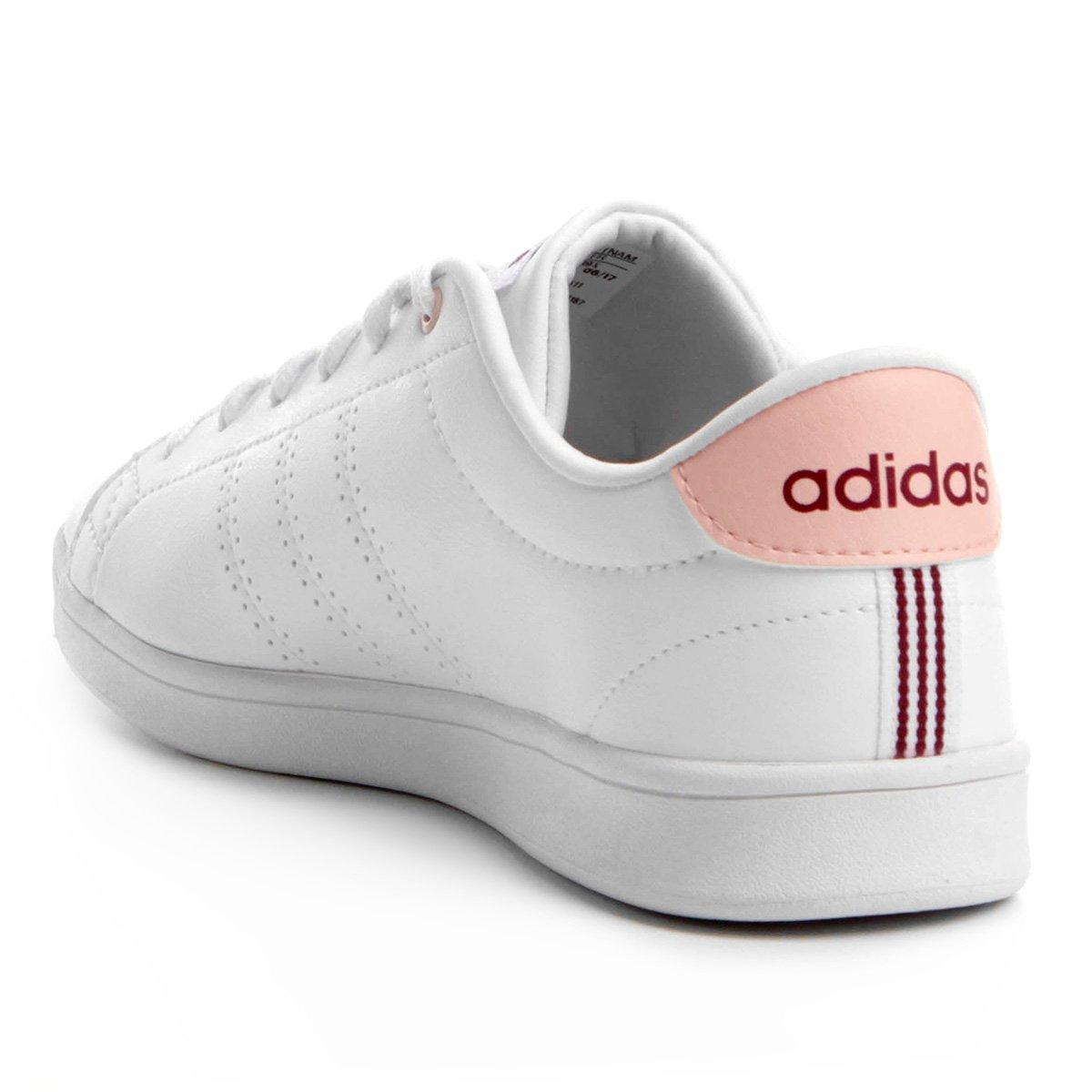 Tênis Adidas Advantage Clean Qt Feminino - Branco - Compre Agora ... cda332e45e738