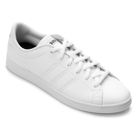 Tênis Adidas Advantage Clean Qt Feminino - Branco+Preto