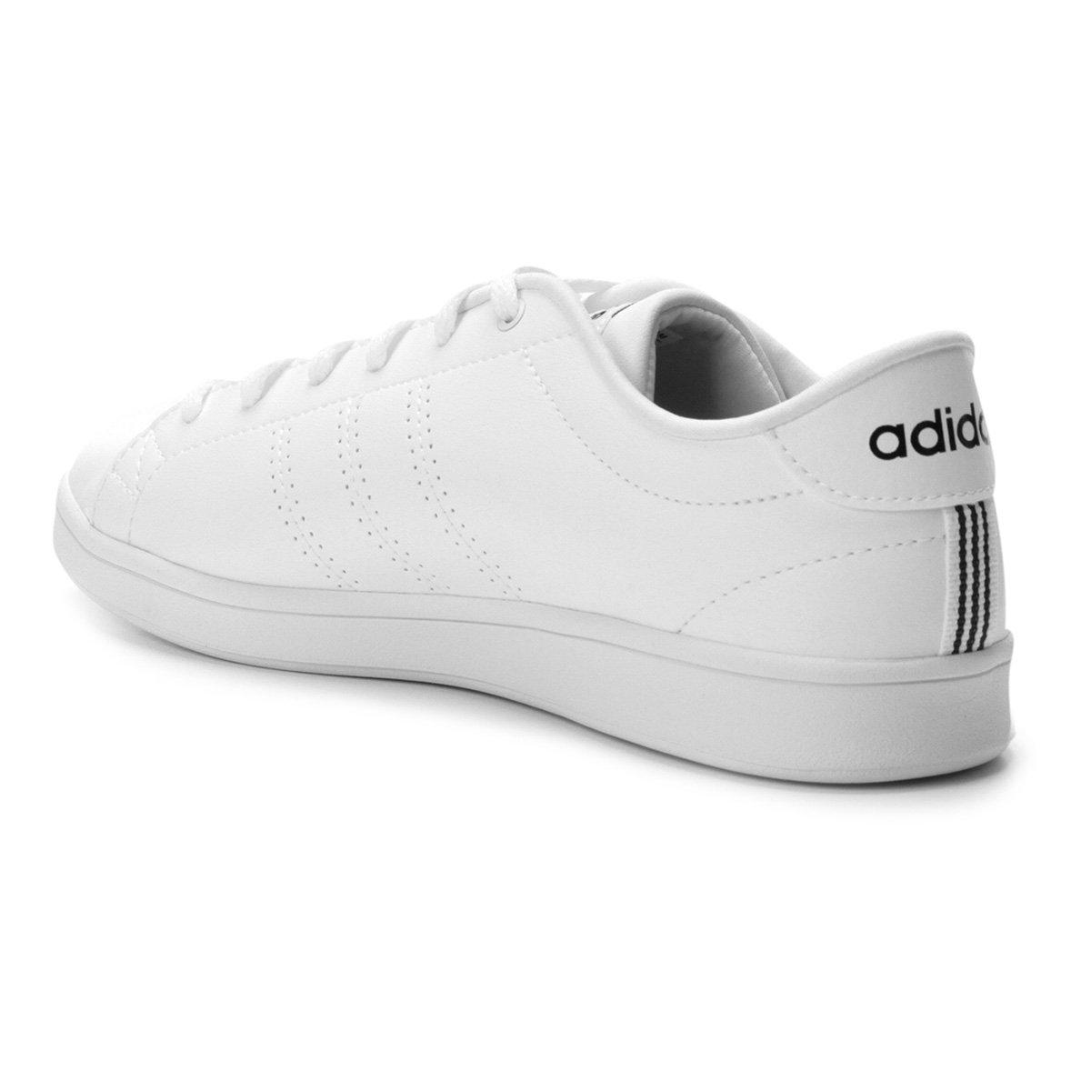 Tênis Adidas Advantage Clean Qt Feminino - Branco e Preto - Compre ... bdb391b0ad8ad