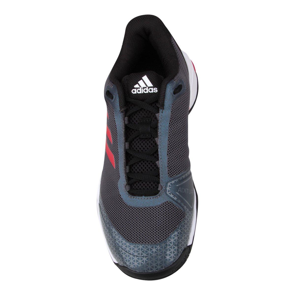 Tênis Adidas Barricade Club OC Masculino - Preto e Vermelho - Compre ... 338e58993e22f