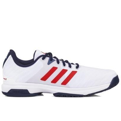 super popular e2a8b 9ed7f Tênis Adidas Barricade Court OC Masculino - Branco e Marinho - Compre Agora   Netshoes