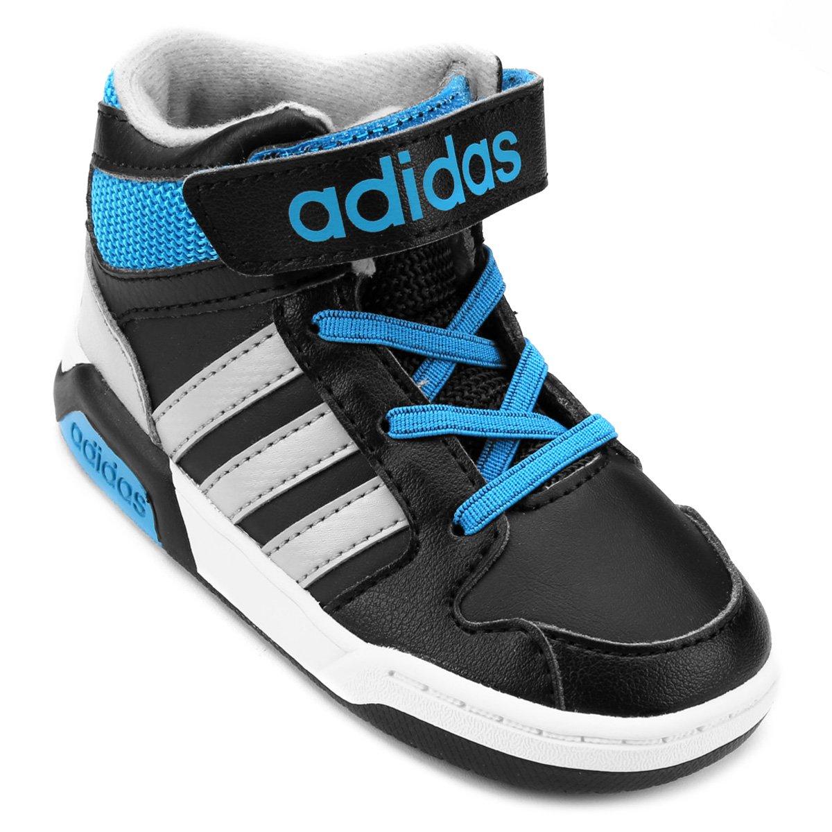 7abe948e01 Tenis Adidas Infantil Preto E Azul - naturallycurlye.com
