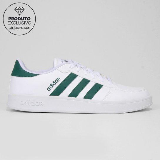 Tênis Adidas Breaknet Masculino - Branco+Verde