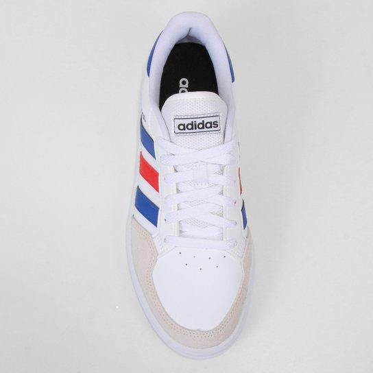 Tênis Adidas Breaknet Masculino - Branco+Azul Royal