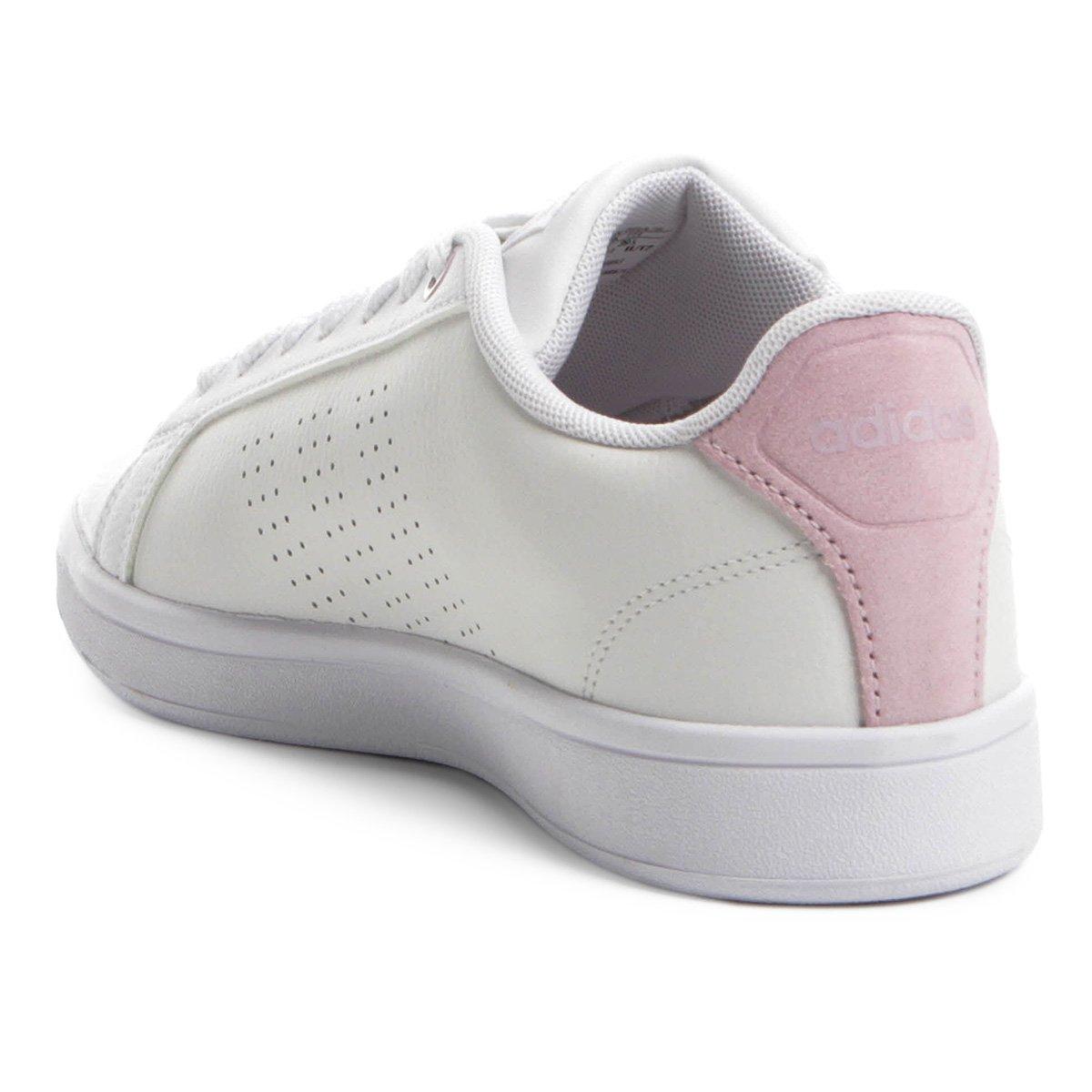 ... Tênis Adidas Cf Advantage Clean Feminino - Branco e Rosa - Compre . 6e075006f72c3