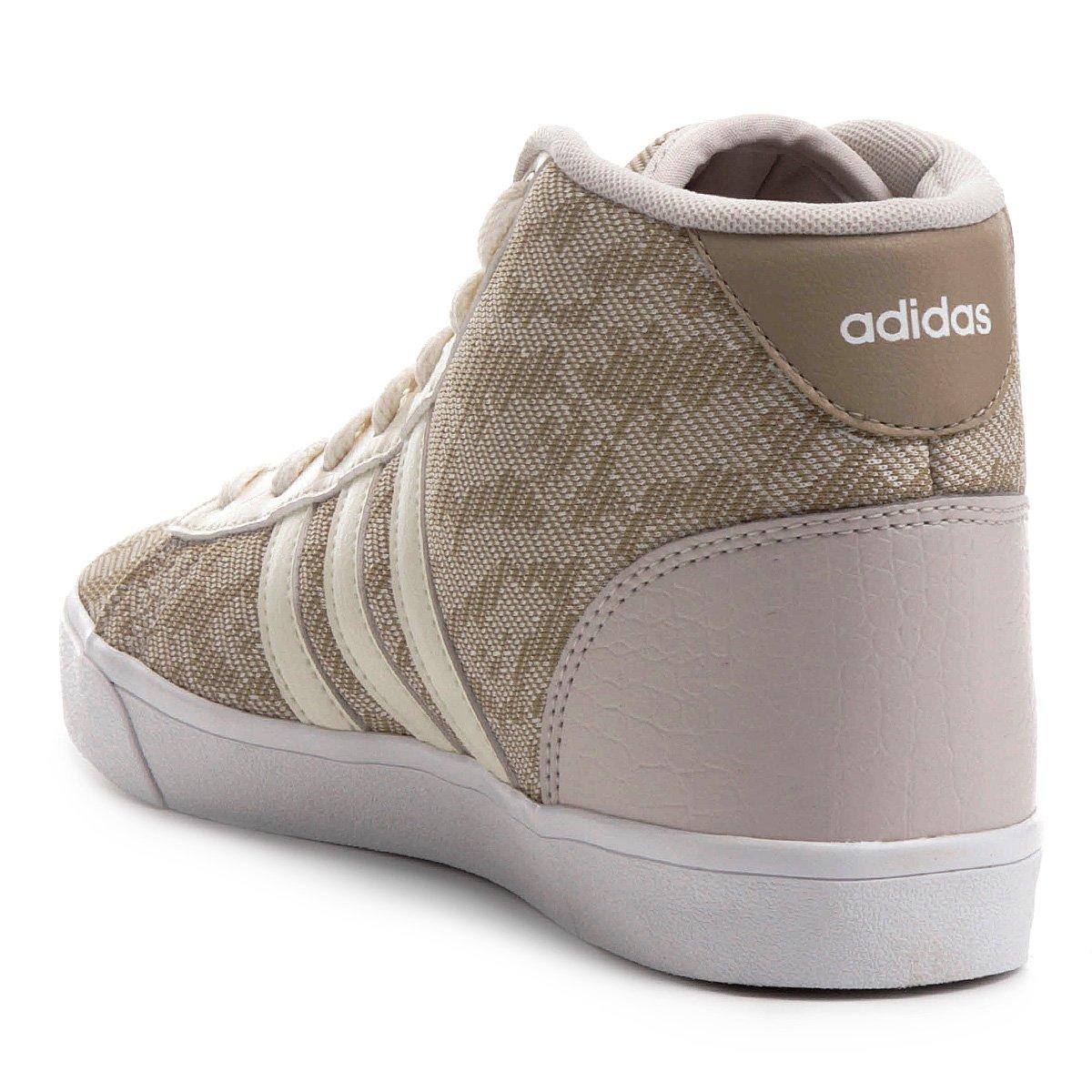 Tênis Adidas Cf Daily Qt Mid Feminino - Bege - Compre Agora  00276c916a0ae