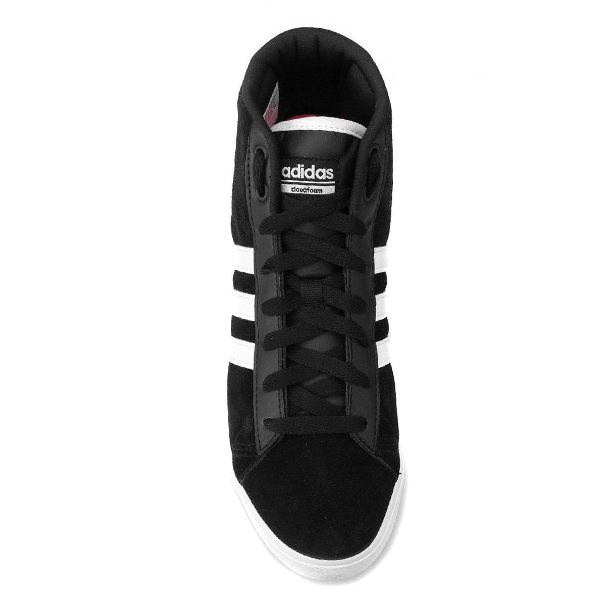 Tênis Adidas Cf Daily Qt Mid Feminino - Preto e Branco - Compre ... e97c174b58a1c