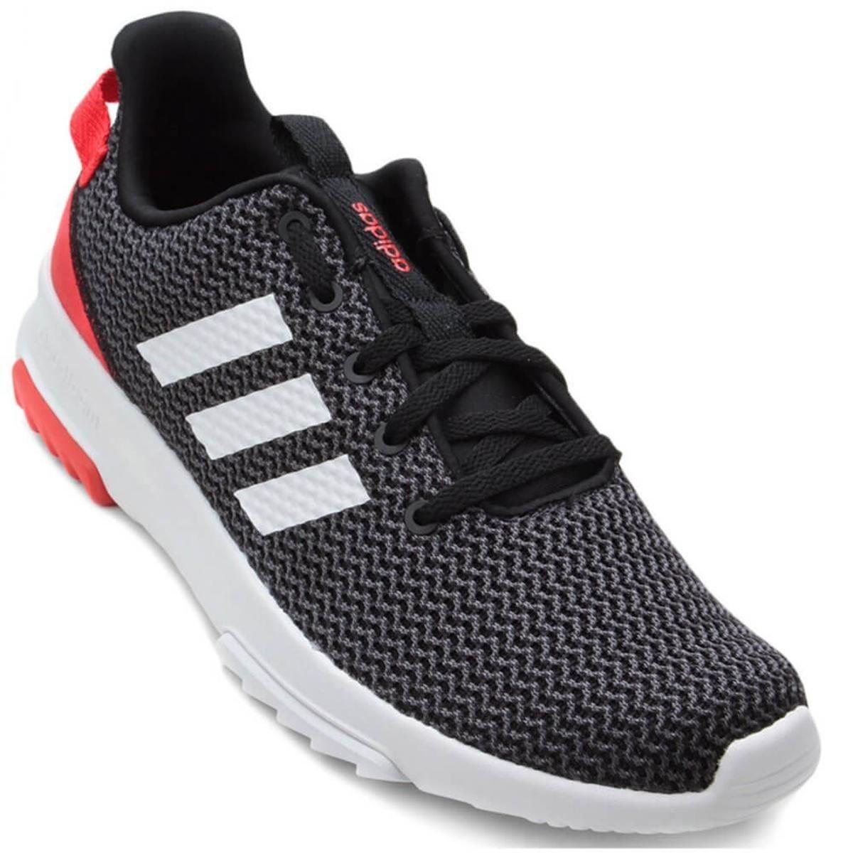 Tênis Adidas Cf Racer Tr Masculino - Preto e Vermelho