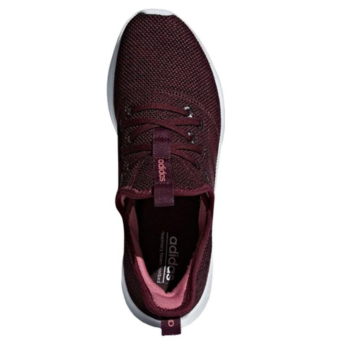 W Adidas Tênis Tênis Cloudfoam Bordô Adidas Pure Feminino nxwCR7P