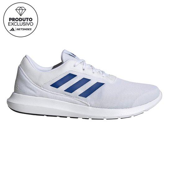 Menor preço em Tênis Adidas Coreracer Masculino - Branco e Azul Royal