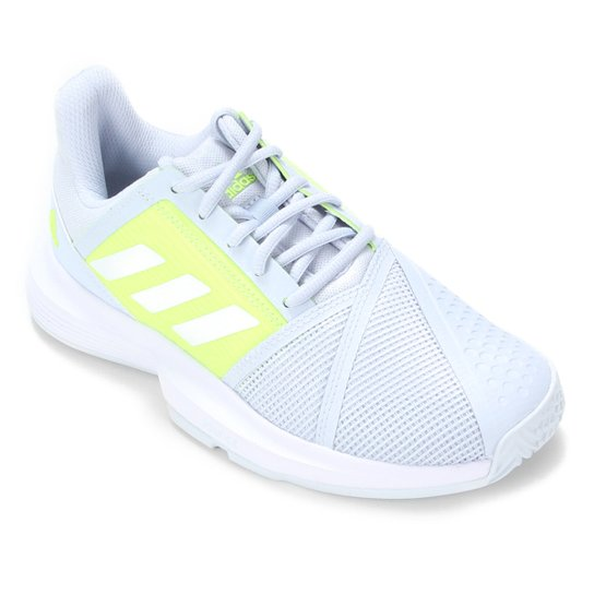 Tênis Adidas Courtjam Bounce Feminino - Azul+Branco