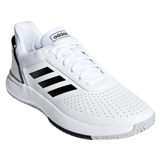 Tênis Adidas Courtsmash Masculino - Branco+Preto