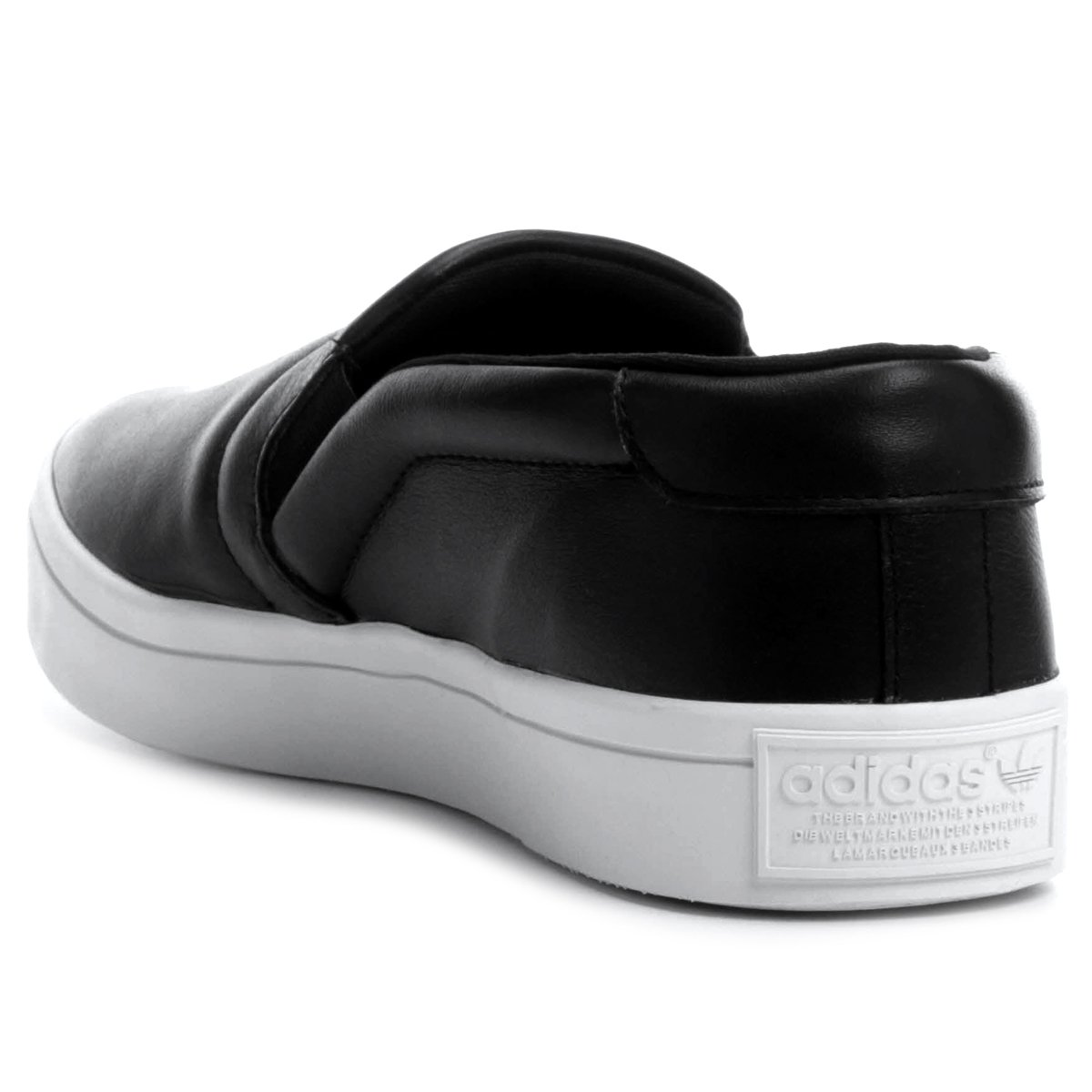 f08cc9af790 ... Tênis Adidas Courtvantage Slip On W - Preto+Branco. FEMININO  COLLECTION