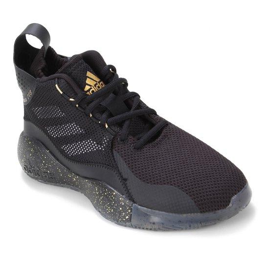 Tênis Adidas D Rose 773 2020 - Preto+Dourado