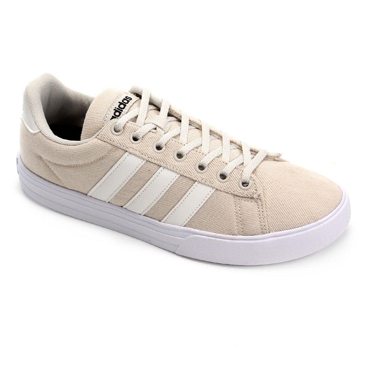 50414644330 Tênis Adidas Daily 2.0 Masculino - Bege e Branco - Compre Agora ...