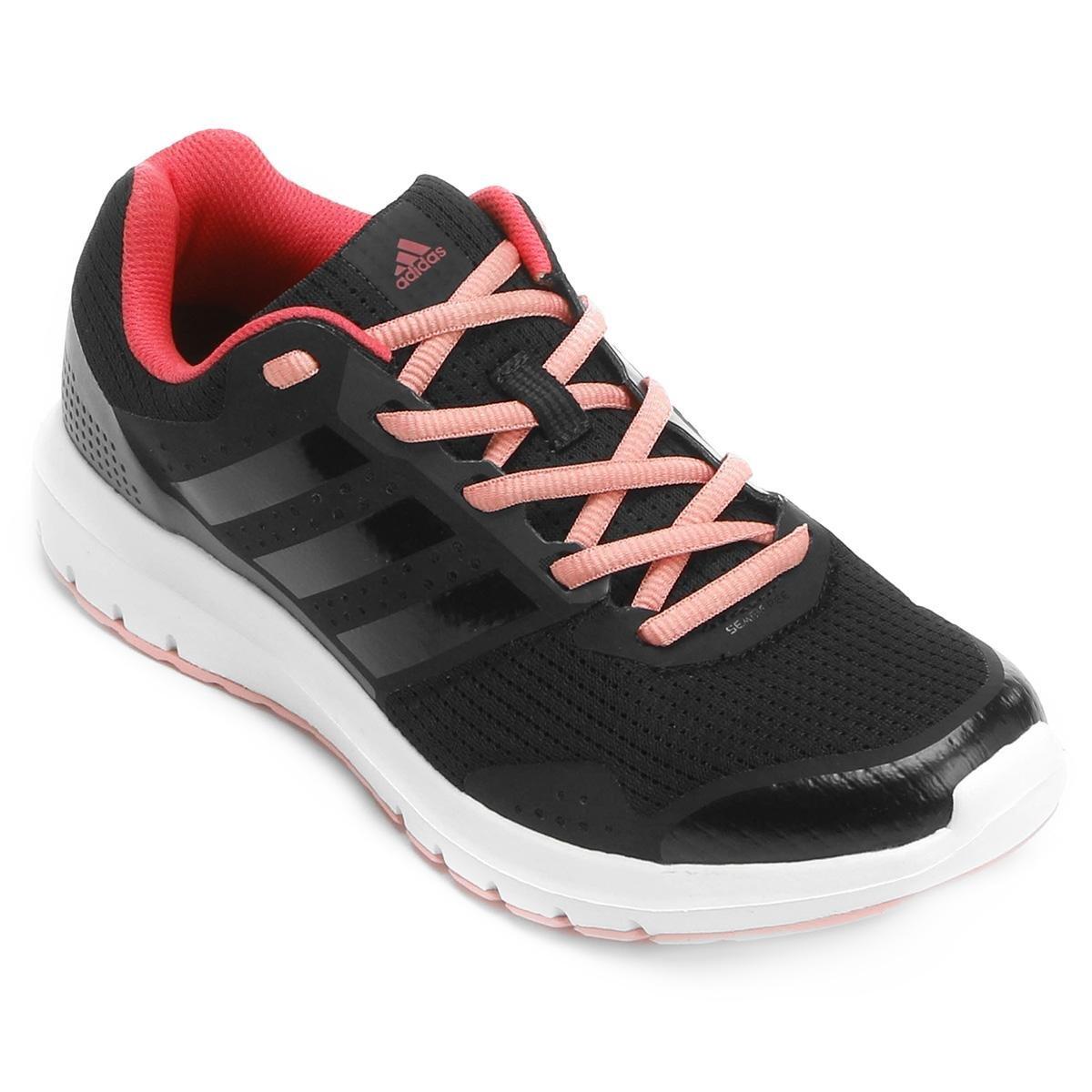Feminino Feminino Duramo Preto Tênis Adidas e 7 Duramo Adidas 7 Preto Rosa Tênis qgAHpIn1w