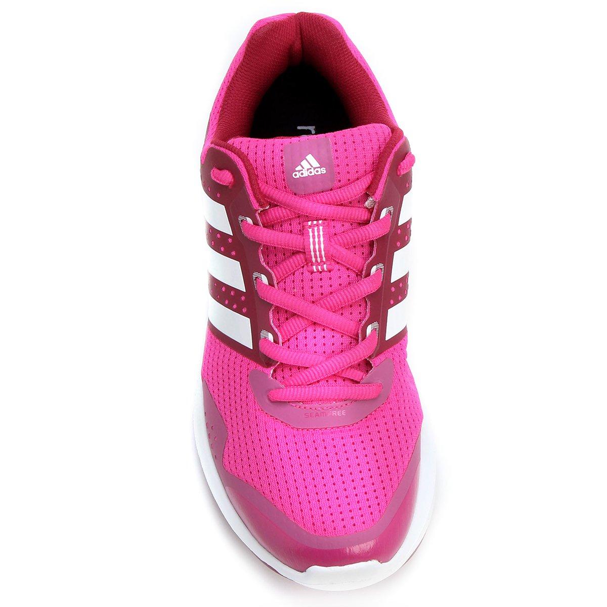 c50e770591 Tênis Adidas Duramo 7 Feminino - Rosa e Vermelho - Compre Agora ...