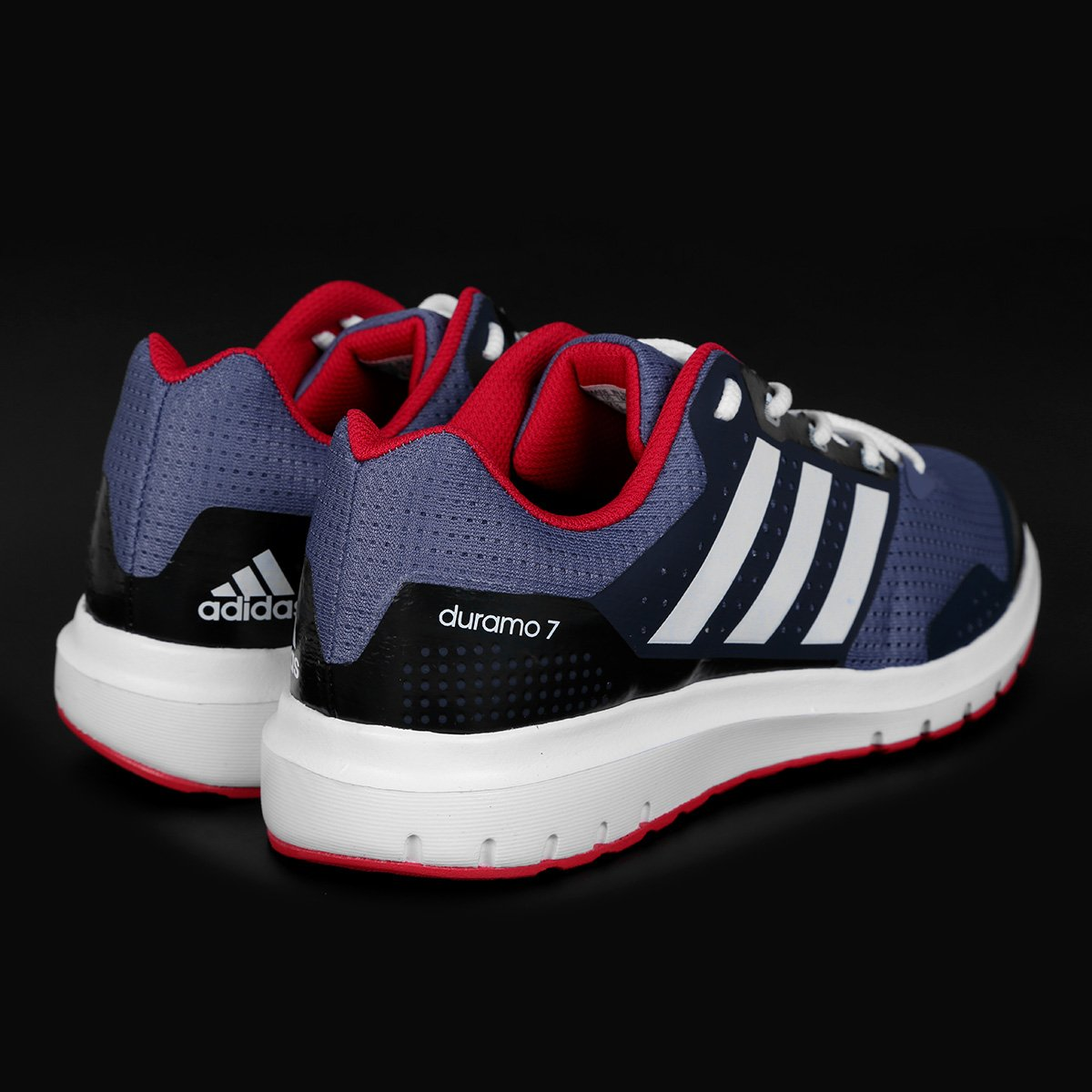Tênis Adidas Duramo 7 Feminino - Chumbo e Vermelho - Compre Agora ... d2083c32367ef