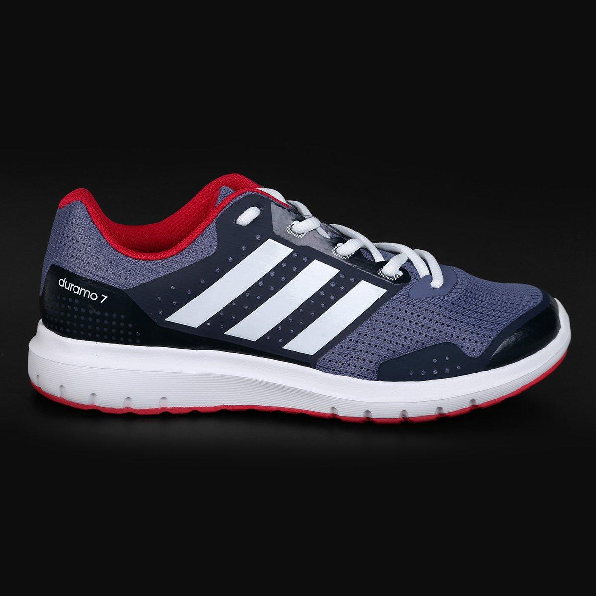 726757d52f Tênis Adidas Duramo 7 Feminino - Chumbo e Vermelho - Compre Agora ...