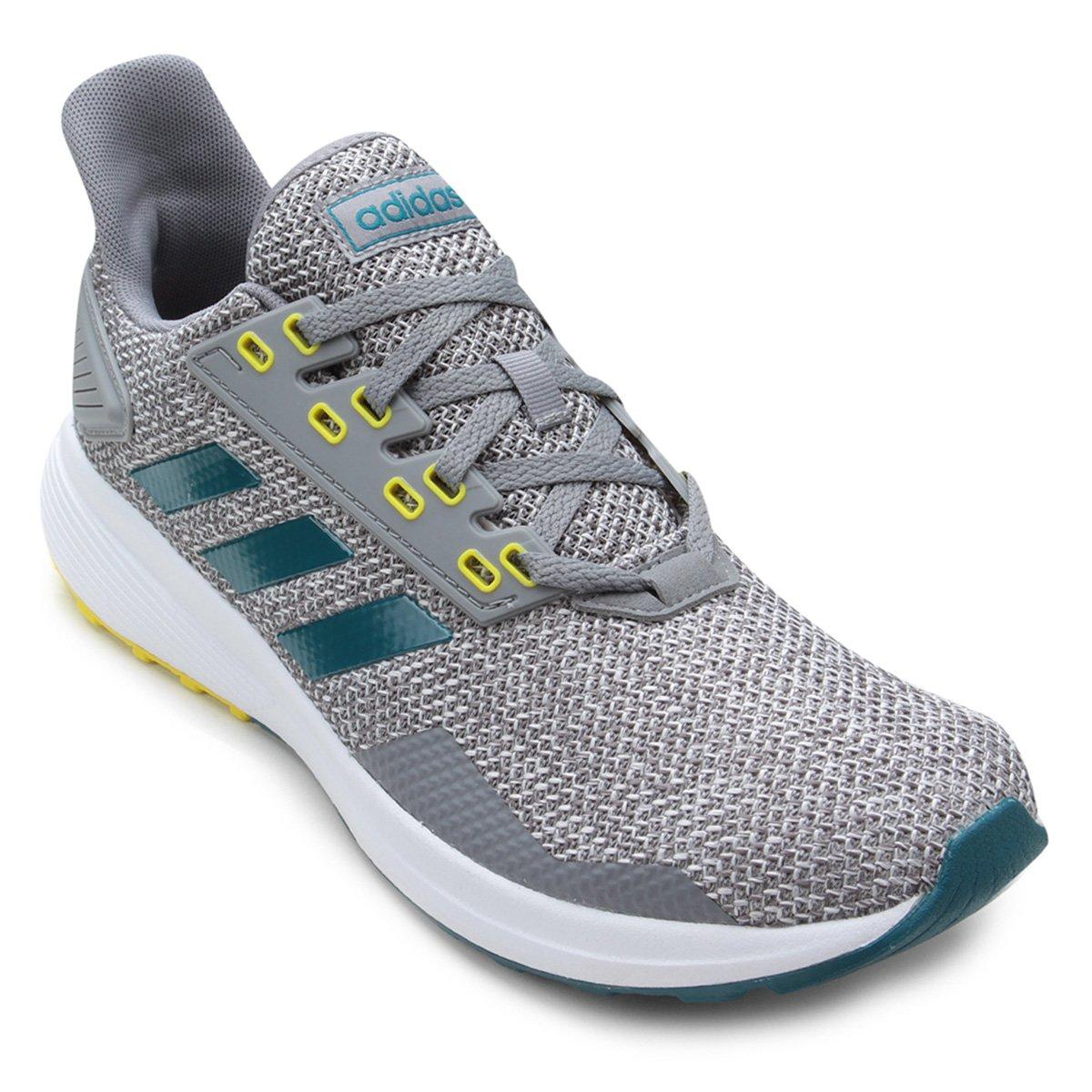 f073ee21c6 Tênis Adidas Duramo 9 Masculino - Cinza e Branco - Compre Agora ...