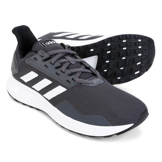Tênis Adidas Duramo 9 Masculino - Cinza+Branco
