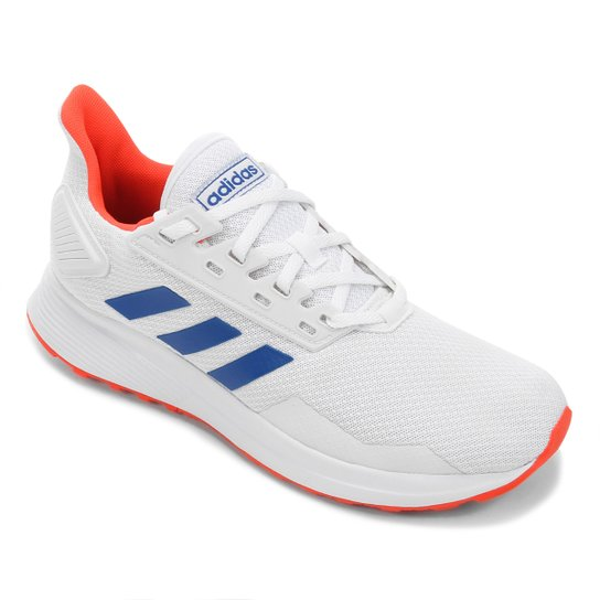 Tênis Adidas Duramo 9 Masculino - Branco+Azul