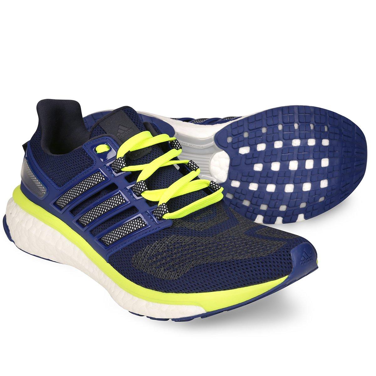 Tênis Adidas Energy Boost 3 Masculino - Marinho e Verde - Compre ... ee5b5139a66f7