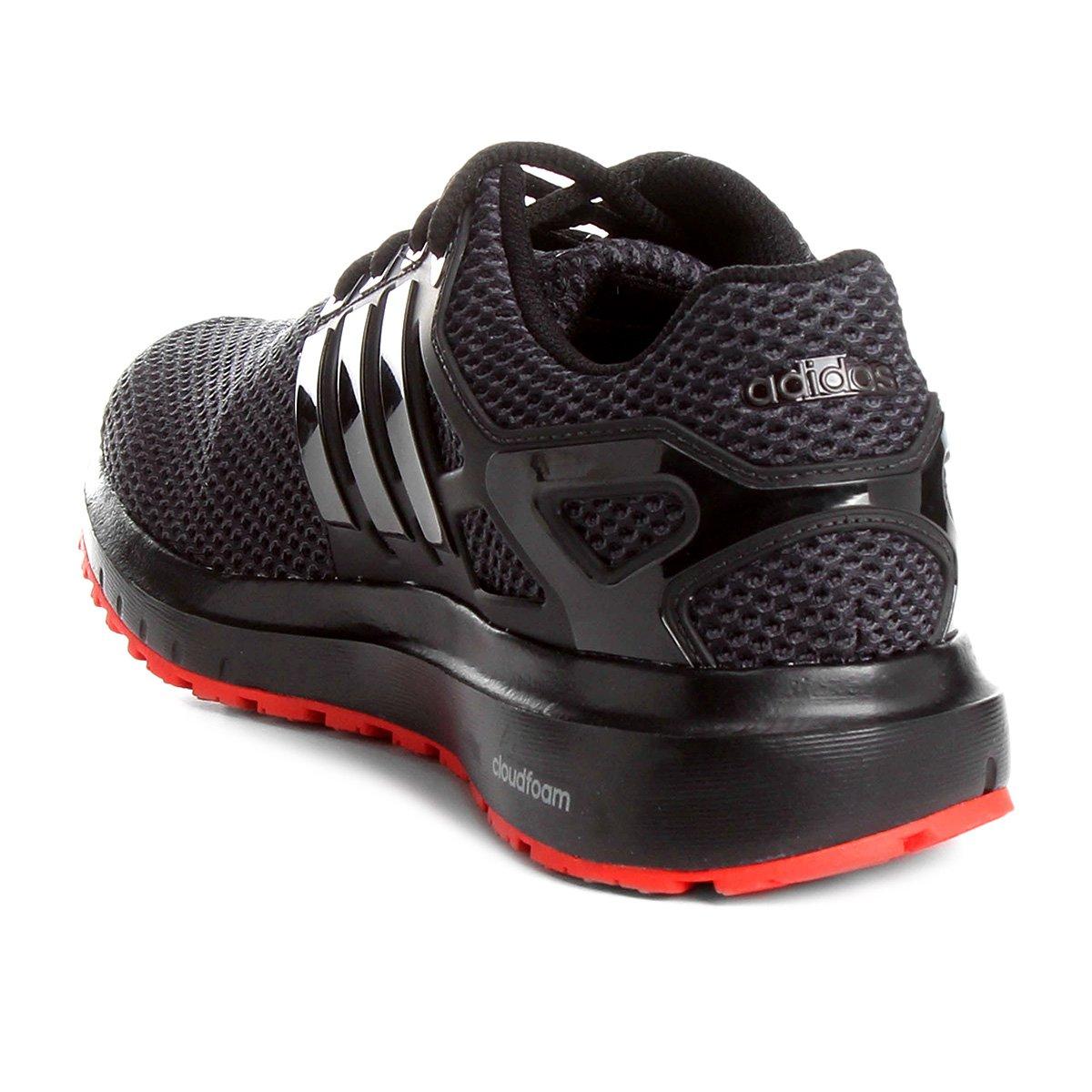 Tênis Adidas Energy Cloud Masculino - Preto e Vermelho - Compre ... d0a0b97bb7296