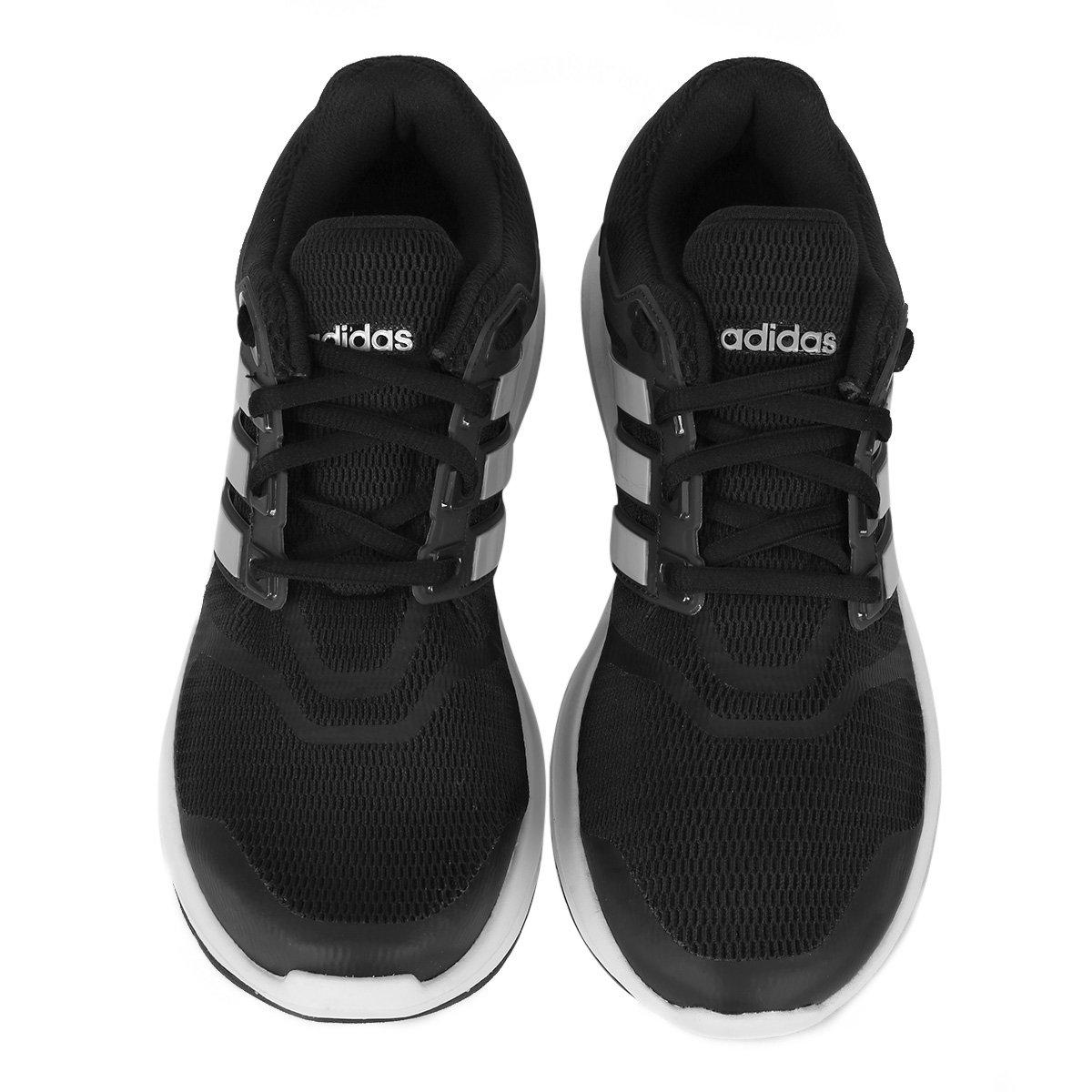 6b1f29027f Tênis Adidas Energy Cloud V Feminino - Preto e Prata - Compre Agora ...