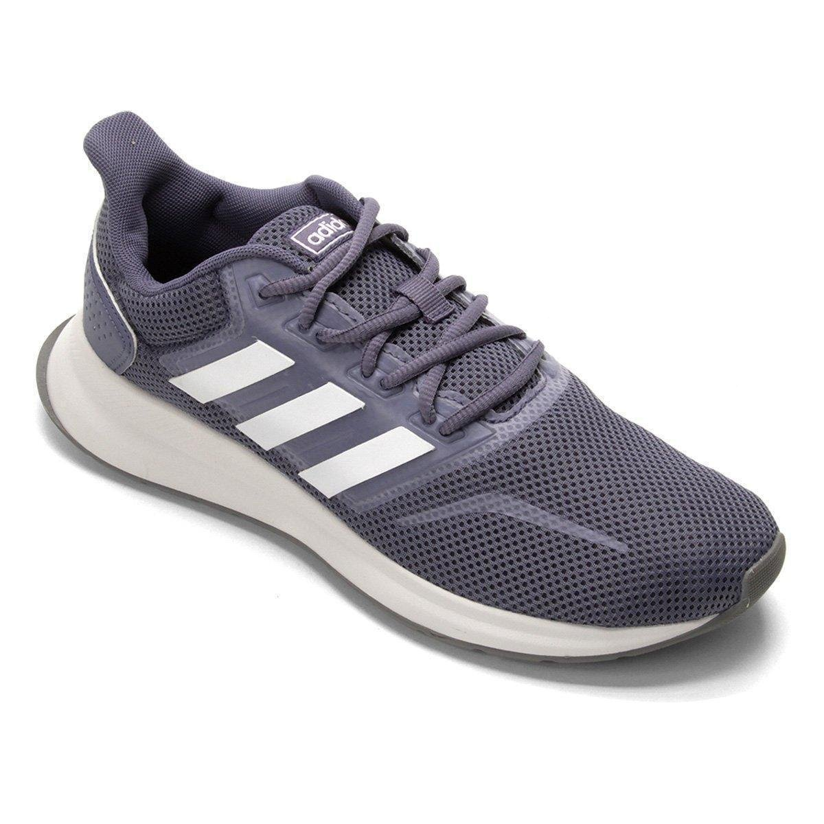 077e25e0b2 Tênis Adidas Falcon Feminino - Cinza - Compre Agora