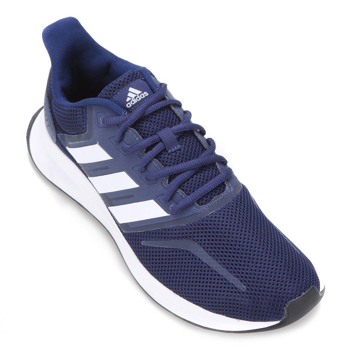 Tênis Adidas Falcon Masculino - Azul e Preto