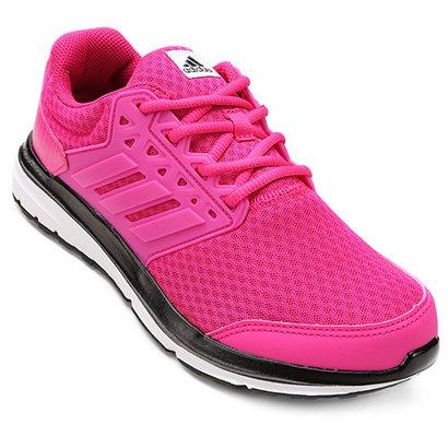 d38ac43542f Tênis Adidas Galaxy 3.1 Feminino - Pink e Branco - Compre Agora ...