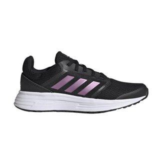 Tênis Adidas Galaxy 5 - Feminino - 38 - Preto/Lilás