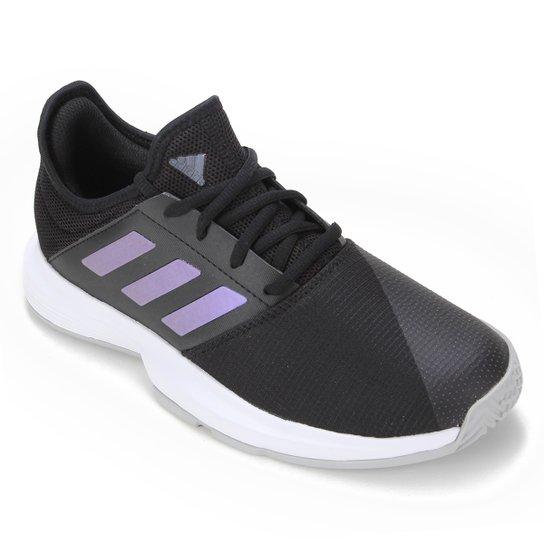 Tênis Adidas Gamecourt Feminino - Preto+Branco