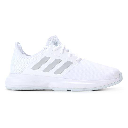 Tênis Adidas Gamecourt Feminino - Branco+Preto