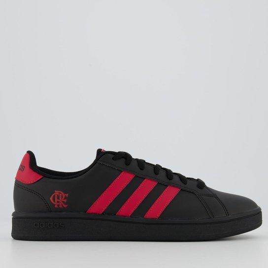 Tênis Adidas Grand Court Flamengo Masculino - Preto+Vermelho
