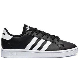 Tênis Adidas Grand Court K 30 Infantil - Preto e Branco
