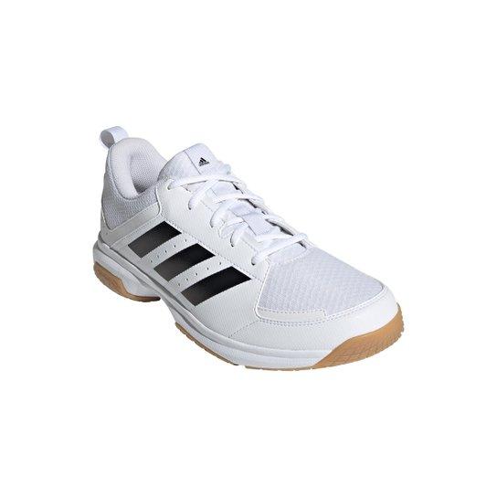 Tênis Adidas Indoor Ligra 7 Masculino - Branco+Preto