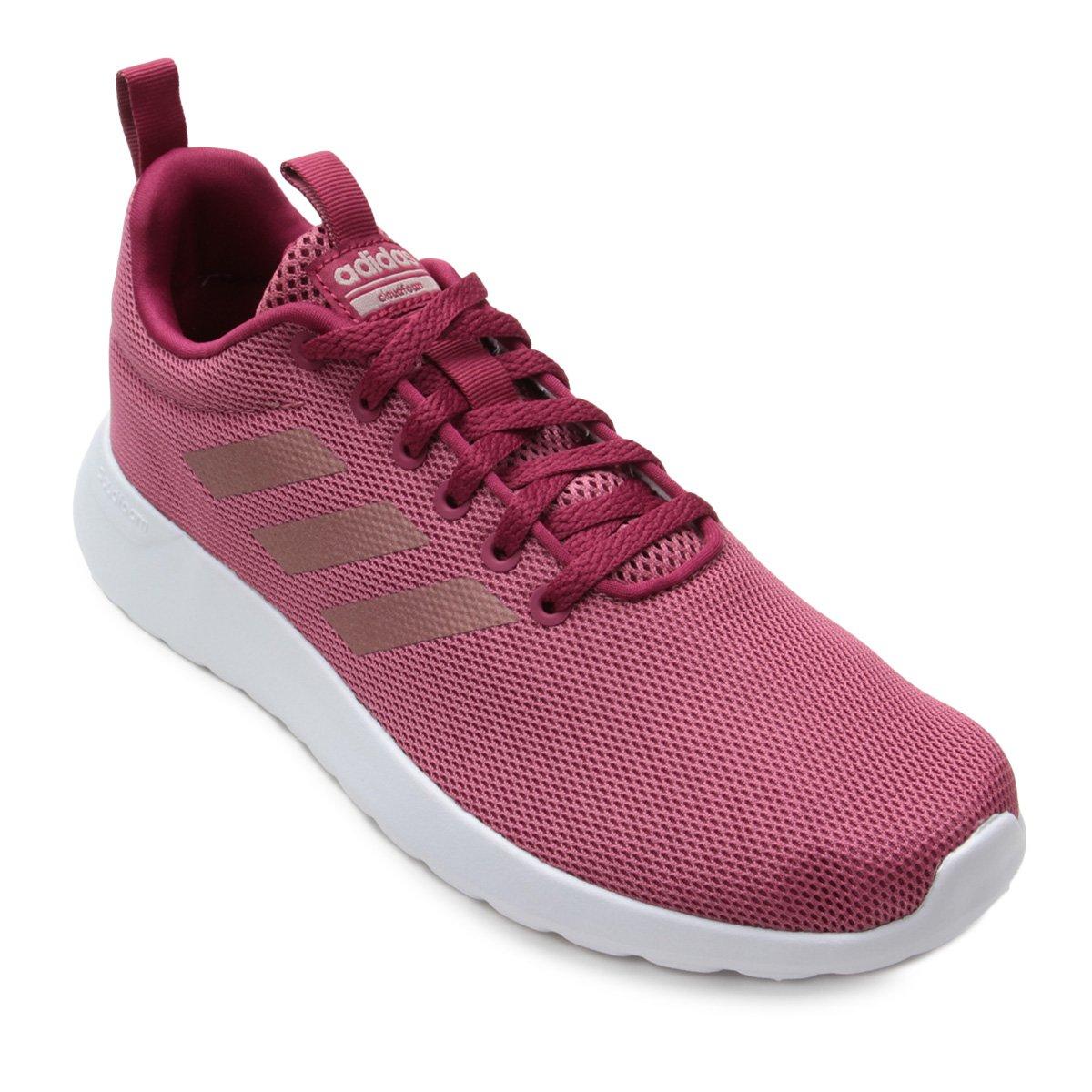 8f6e56e137d Tênis Adidas Lite Racer Cln Feminino - Bordô - Compre Agora