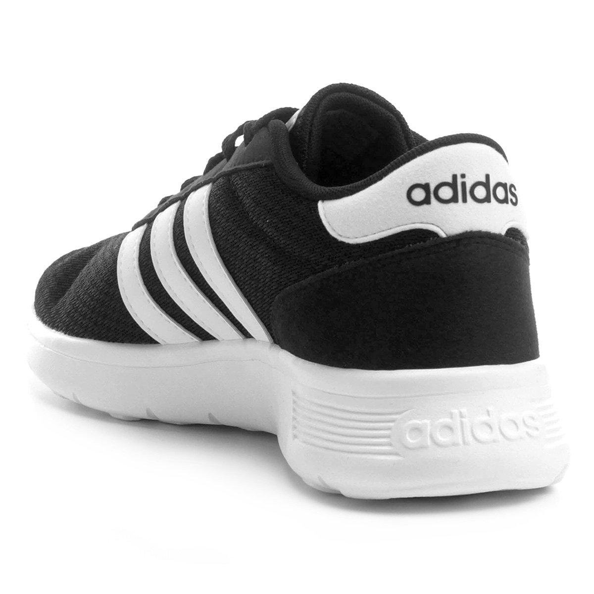 Tênis Adidas Lite Racer Masculino - Preto e Branco - Compre Agora ... 22d92ab8f1187