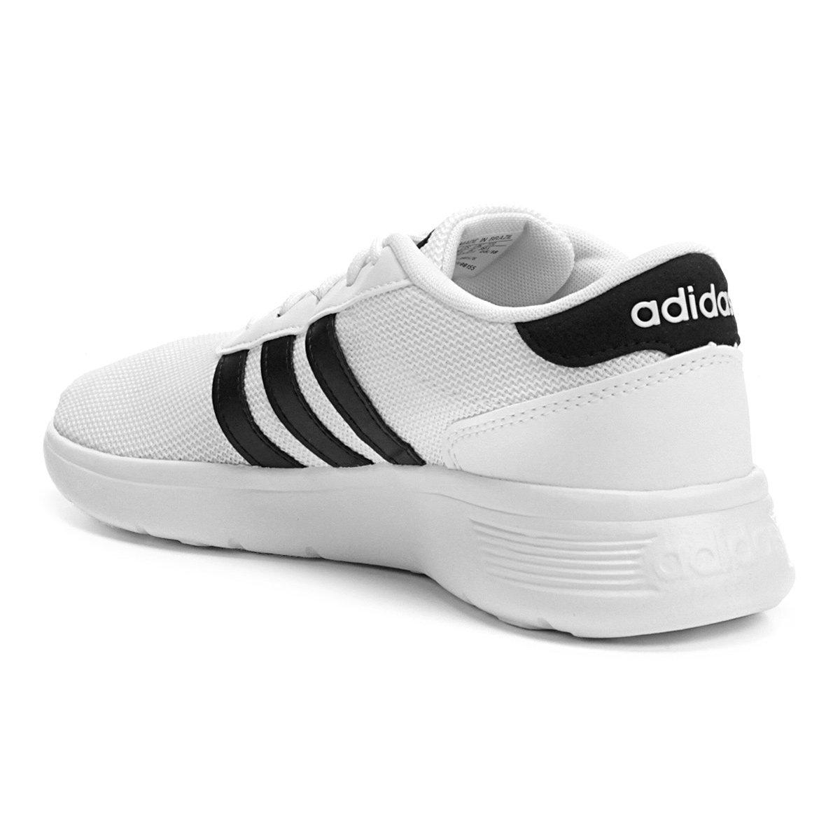 Tênis Adidas Lite Racer W Feminino - Gelo e Preto - Compre Agora ... 790635b10b3ce