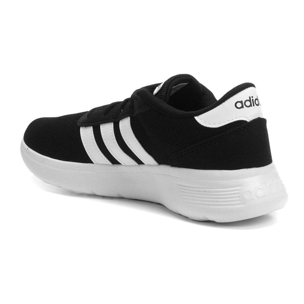 eb9af79ea8d5e Tênis Adidas Lite Racer W Feminino - Branco e Preto - Compre Agora ...