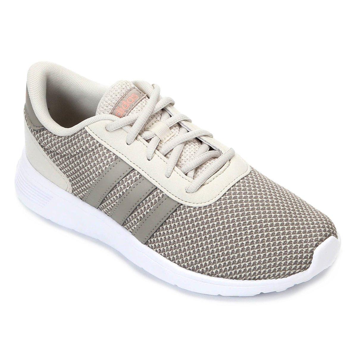 91e01417258 Tênis Adidas Lite Racer W Feminino - Branco e Marrom - Compre Agora ...