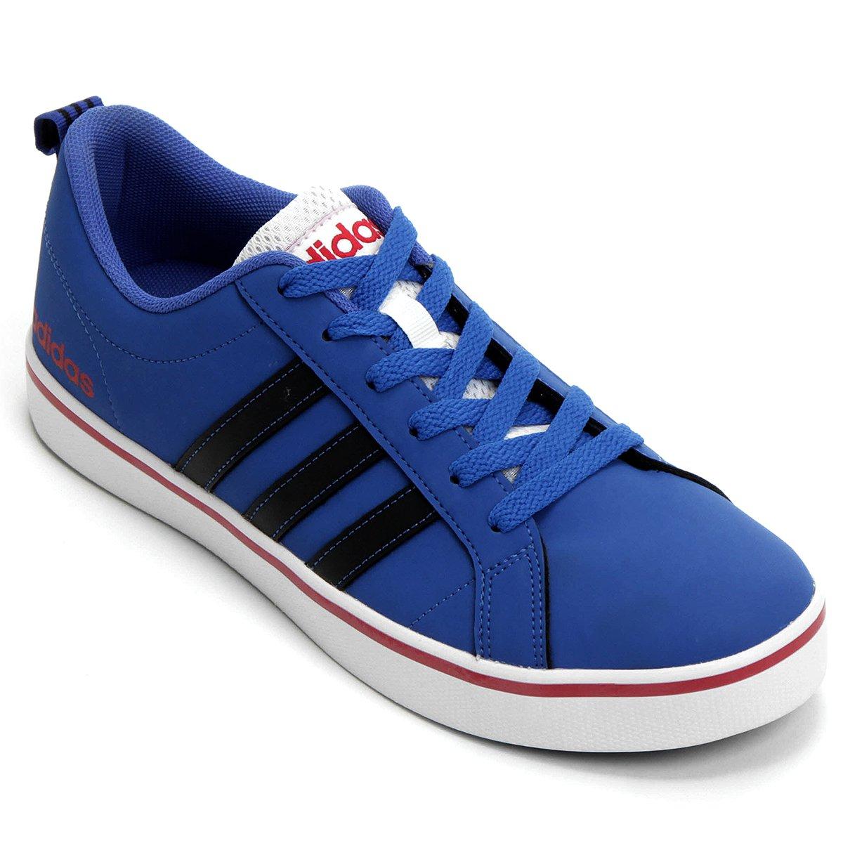 5f558259d026d Tênis Adidas Pace Vs Masculino - Azul e Vermelho - Compre Agora ...