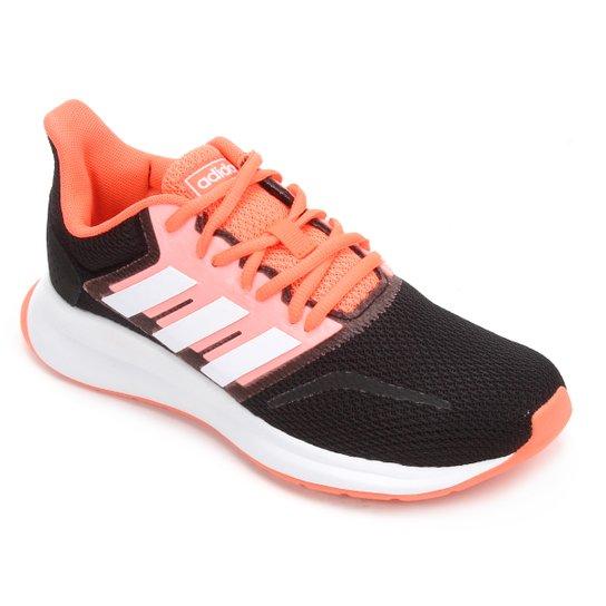 Tênis Adidas Run Falcon Feminino - Preto+Laranja
