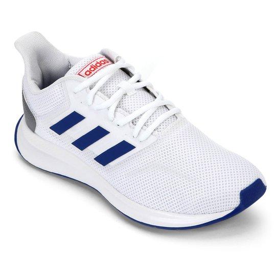 televisor Culpable Opresor  Tênis Adidas Run Falcon Masculino - Branco e Azul | Netshoes