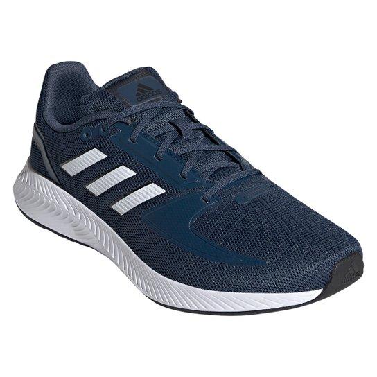 Tênis Adidas Runfalcon 2.0 Masculino - Azul+Branco