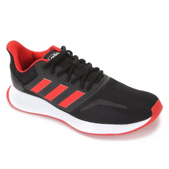 Menor preço em Tênis Adidas Runfalcon Masculino - Preto e Vermelho
