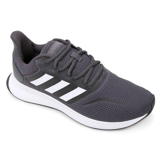 Tênis Adidas Runfalcon Masculino - Cinza+Branco